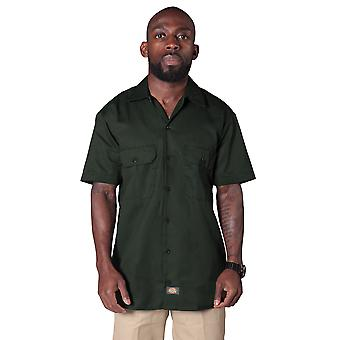 Dickies Short Sleeve Work Shirt - Olive Green Dickies1574OG Mens Classic Shirt