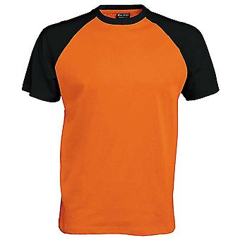 Kariban Mens Colours short sleeved Cotton baseball Sports T-Shirt