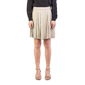 Miu Miu Women's Viscose Pleaded Skirt Brown