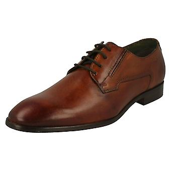 mens Bugatti Formal encaje zapatos 311-41901-1100-6300 - Cognac cuero - Reino Unido 7 - UE tamaño 41 - US tamaño 8