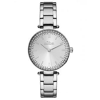 s.Oliver Damen Uhr Armbanduhr Edelstahl SO-3158-MQ