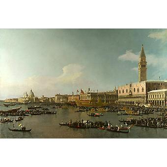 The Basin of San Marco on Ascension Day, Canaletto, 40x60cm with tray