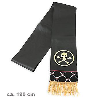 Pirate sash black skull pirates captain