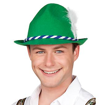 Boland Green Oktoberfest Hat with Feather Bavarian Fancy Dress Outfit Accessory