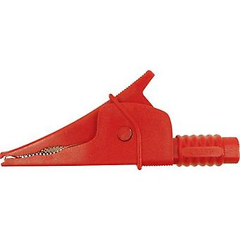 Safety terminal 4 mm jack connector CAT III 1000 V Red Cliff