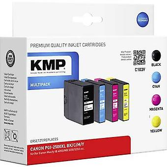 KMP Ink replaced Canon PGI-2500XL Compatible Set Black, Cyan, Magenta, Yellow C103V 1565,0050