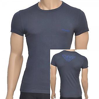 Emporio Armani águia Stretch Cotton gola t-shirt, carvão, X-grande