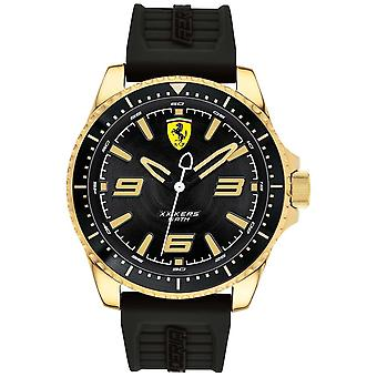 Scuderia Ferrari Mens XX Kers Gold Plated Case Rubber Strap 0830485 Watch