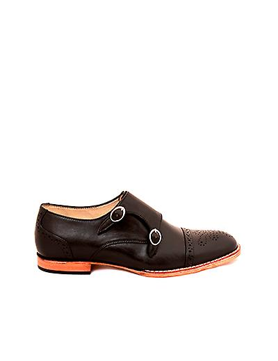Handcrafted Premium Leather Black Berenice Black Leather Monk Shoe f684d2