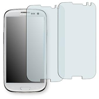 Samsung Galaxy S3 neo display protector - Golebo crystal-clear protector (deliberately smaller than the display, as this is arched)