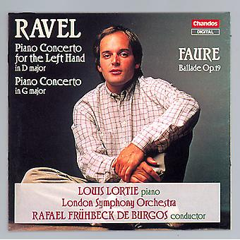 Ravel/Faure - Ravel: Piano Concerto for the Left Hand in D Major, Piano Concerto in G Major; Faure: Ballade, Op. 19 [CD] USA import