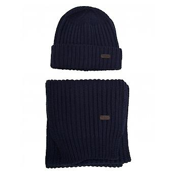 Barbour Chunky Hat And Scarf Gift Set