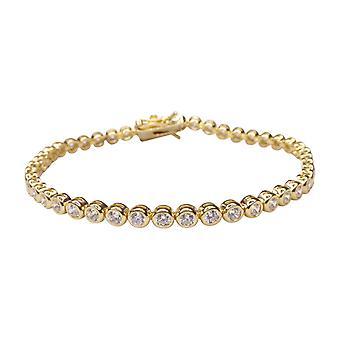 Double bracelet with cubic zirconia