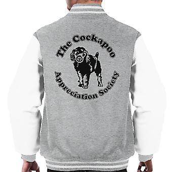 Cockapoo reconocimiento sociedad Varsity chaqueta de