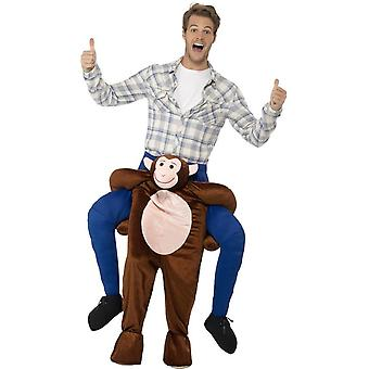 Piggyback Monkey Costume, Brown, One Piece Suit with Mock Legs