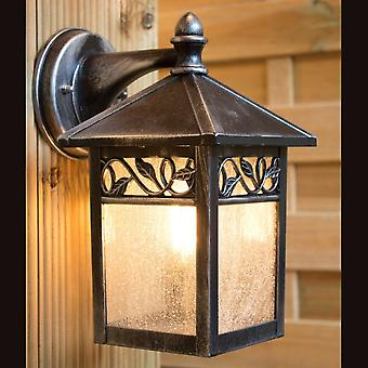 Elstead Lighting Winchcombe Outdoor IP44 Wall Lantern In Black/Silver