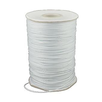 1 x White Waxed Polyester 10m x 1mm Thong Cord Continuous Length HA02795