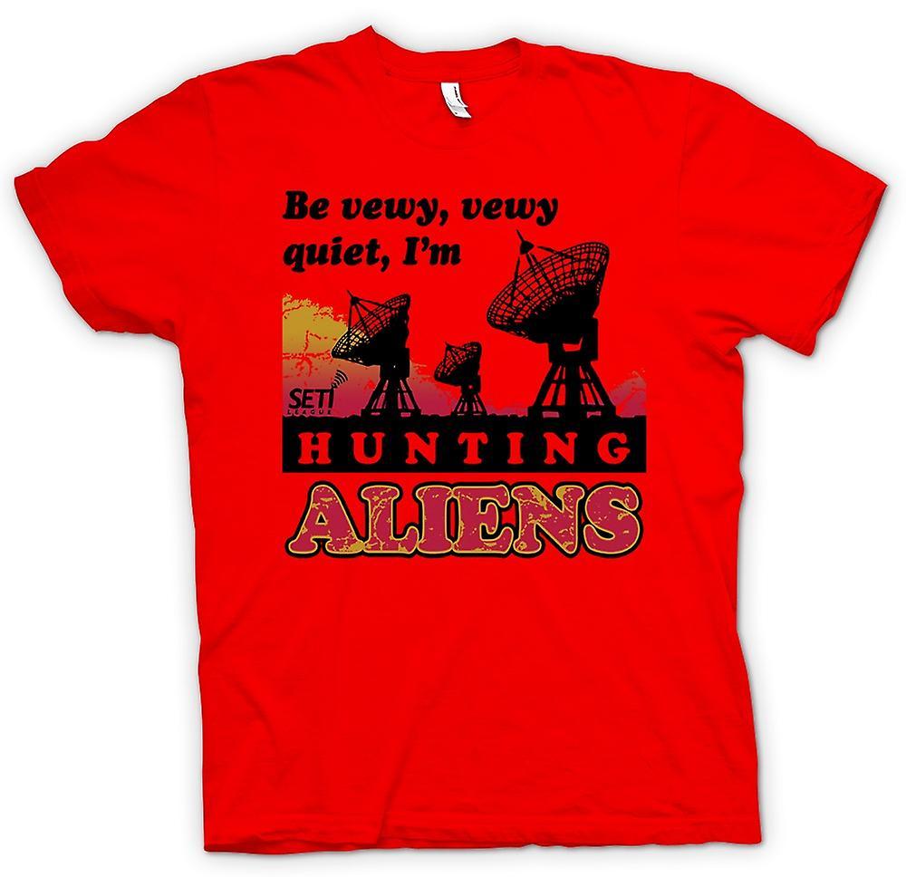 Mens T-shirt - SETI - UFO - Alien Hunters - Astronomy