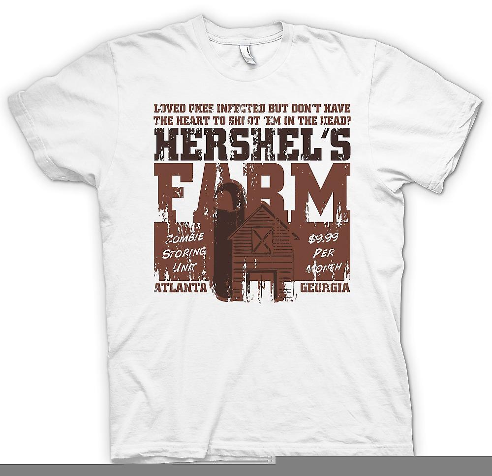 Mens T-shirt - Hershels Farm - Zombie Storing Unit