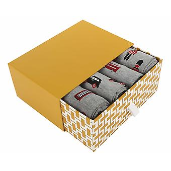 London Gift Box | 4 pairs of men's soft bamboo crew socks by Thought