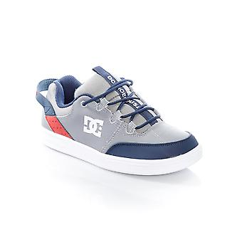 DC Grey-Red-White Syntax Kids Shoe