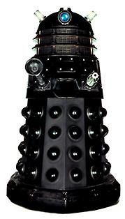Dalek (svart) Tabletop (Doctor Who)-Tabletop papp åpning / Standee