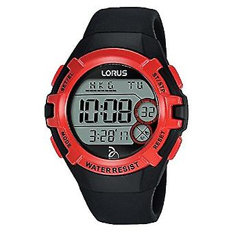 Lorus Novak Djokovic Foundation Red and Black Rubber Strap Men's Watch R2389LX9