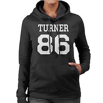 Alex Turner Varsity Football Style Women's Hooded Sweatshirt