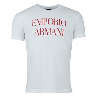 Emporio Armani adelaar terug Logo Front T-shirt