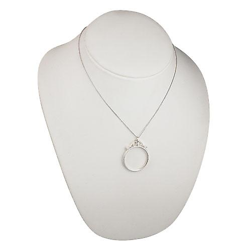 Silver 40x32mm half Crown or two and six pence coin mount with 2 scrolls Pendant with a curb Chain 18 inches