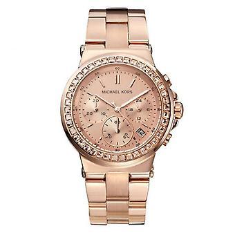 Michael Kors Mini Dylan Rose Gold Chronograph Ladies Watch MK5586