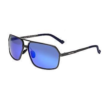 Rasen ugnen Aluminium polariserade solglasögon - Gunmetal/blå