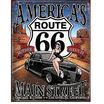 Route 66 Americas Main Street Metal Sign  (de)