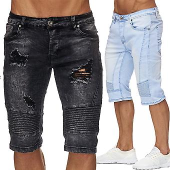 Men's Ripped Jeans Shorts Men's shorts Acid Washed Ripped Pants Holes Destroyed New