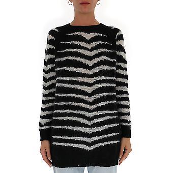Red Valentino White/black Cotton Sweater