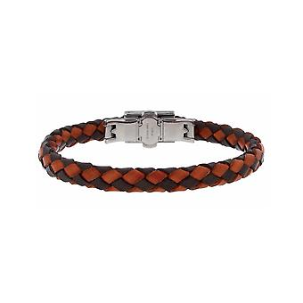 ZOPPINI Orange/Brown Leather Bracelet