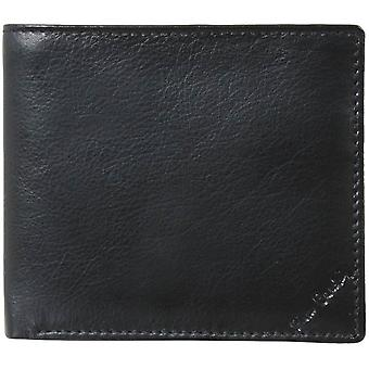 Pierre Cardin Leather Credit Card Hip Wallet - Black