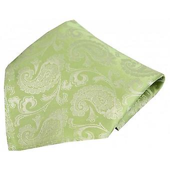 David Van Hagen Paisley Woven Silk Pocket Square - Green