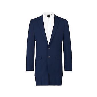 Dobell Herre mørke blå 2 Piece Suit Slim Fit Notch revers
