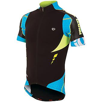 Pearl Izumi Black-Electric Blue Pro Leader Short Sleeved Cycling Jersey