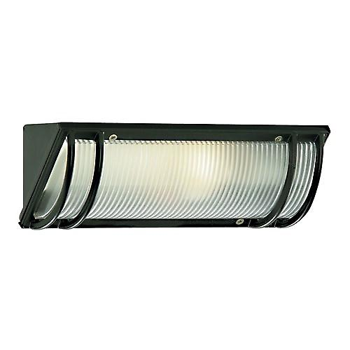 Searchlight 1819BK Cast Aluminium Black Outdoor Wall Light Bulkhead