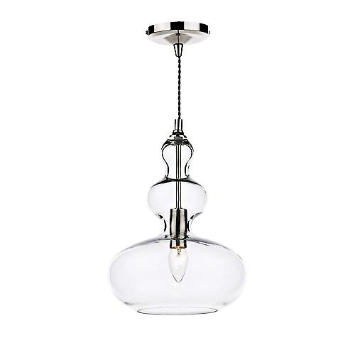 Dar GOA018 Goa Modern Double Insulated Clear Glass Pendant