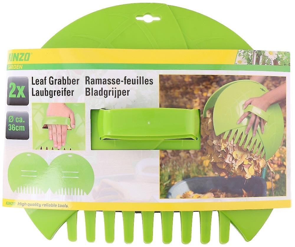 Big Hands Garden Leaf & Grass Collector Waste Rubbish & Litter Scoop Rake  36x31x8cm 2pc