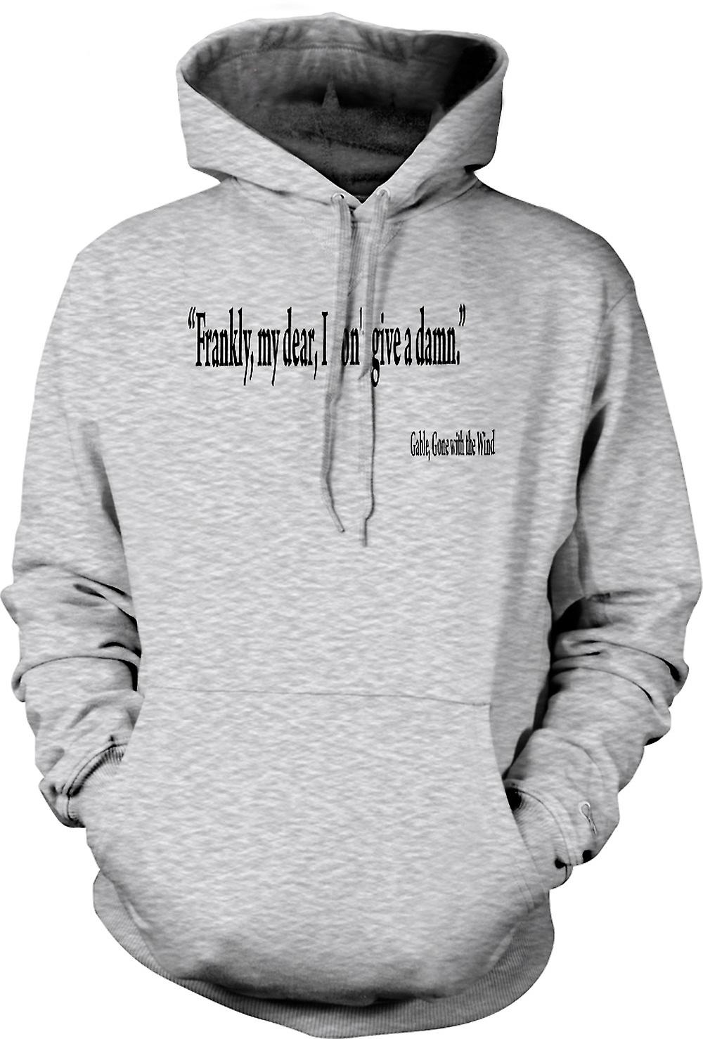 Mens Hoodie - Gone with the Wind - pignon