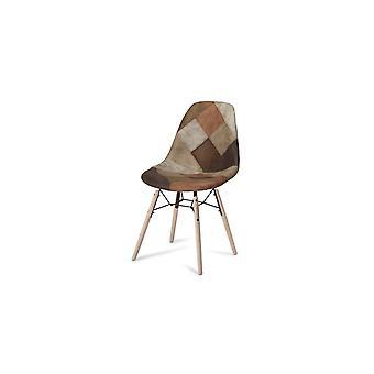 Furnhouse Sun Dining Chair, Brown, Natural Legs, 47x57x84 cm, Set of 2
