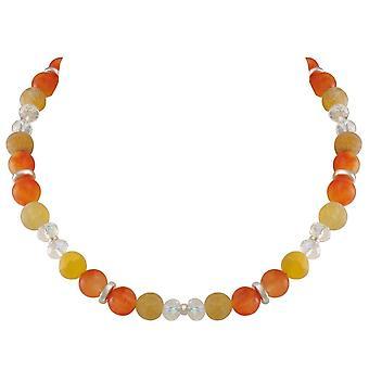 Evig samling Rhapsody oransje Jade og agat krystall perler uttalelse halskjede