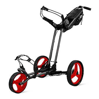 Sun Mountain Pathfinder 3 hjul push Golf tralle Cart magnetisk grå/rød