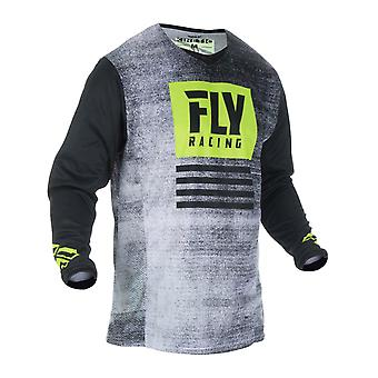 Fly Racing Black-Hi-Vis 2019 Kinetic Noiz Kids MX Jersey
