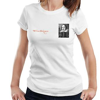A.P.O.H William Shakespeare Black And White Portrait Women's T-Shirt