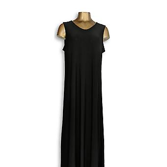 Attitudes by Renee Dress Como Jersey Solid Maxi Black A347401